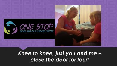 """Knee to knee just you and me – close the door for four"""